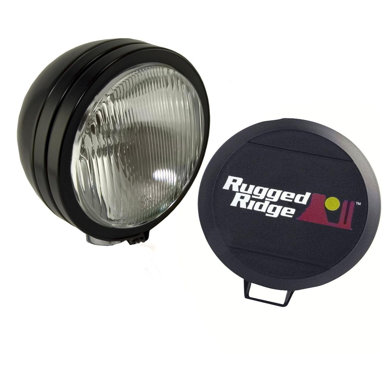 5 Inch Round Hid Off Road Fog Light Kit  Black Steel