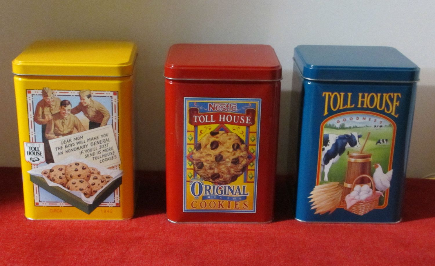 Nestle S Toll House Cookie Morsel Tins Vintage Tins Tin