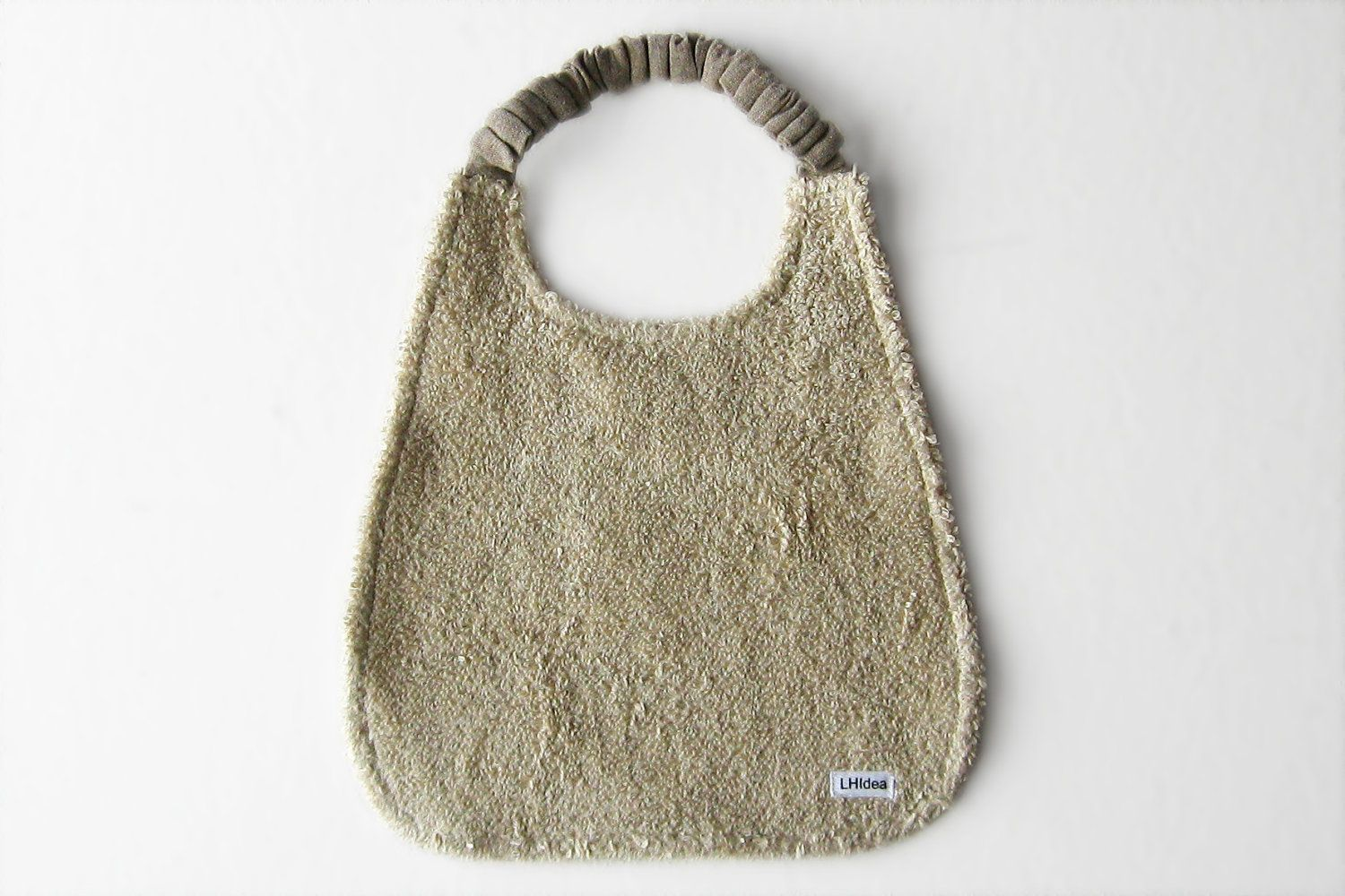 Bib for your Child by Lovely Home Idea. Terry linen with elastic neck strap.