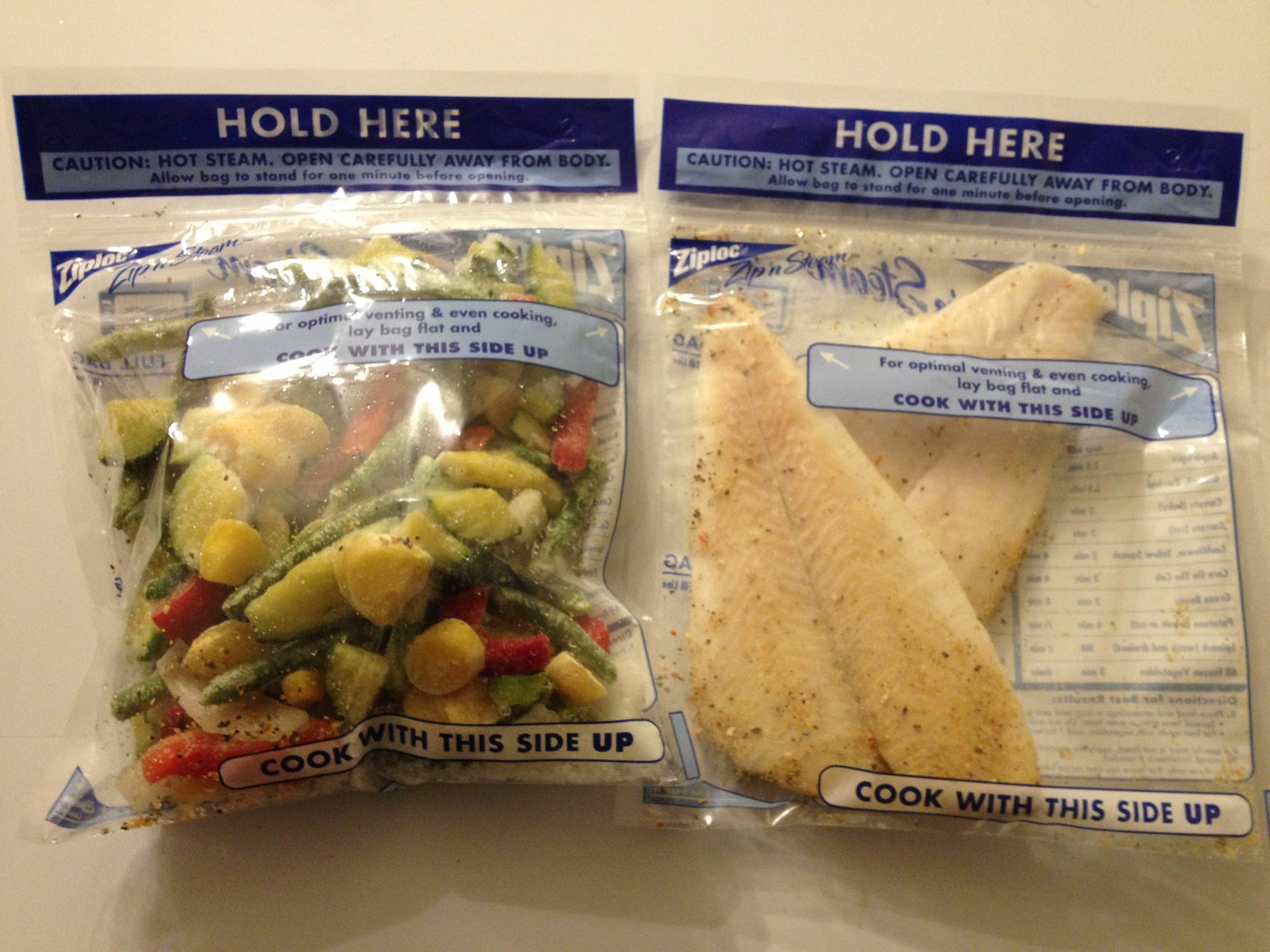 Healthy Meals Can Be Made Quickly And Still Yummy Using Ziplock Steam Bags Good For Fish Veggies En Place Desired Meat Or In