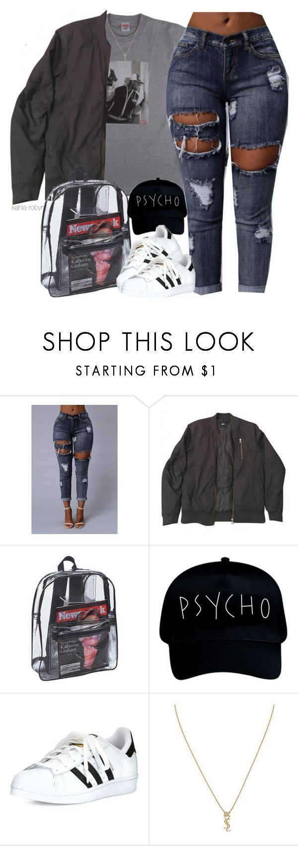 """""""Controlla  7 20 16"""" by kahla-robyn ❤ liked on Polyvore featuring ASOS, adidas and Yves Saint Laurent"""