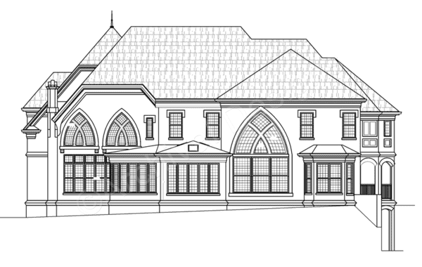 Best Kildare Place House Plan Kildare Place House Plan Rear 400 x 300