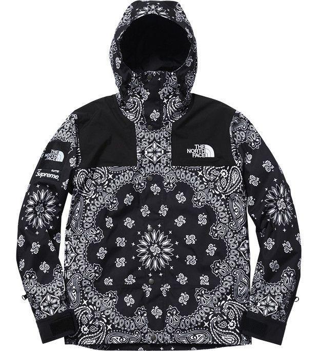 f2094a9a3 Supreme X North Face Black Bandana Jacket Flawless quality and warm ...