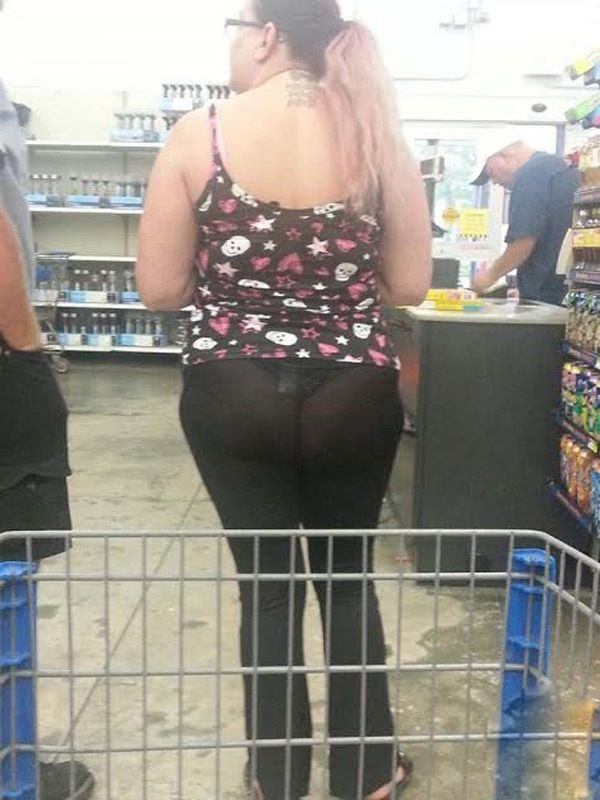 Butt Eating Underwear and Black See Through Yoga Pants - People of Walmart Fail - Funny Pictures ...