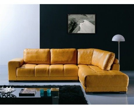 Gold Sectional Sofa Lamps For Table Loren Modern Leather Furniture Pinterest