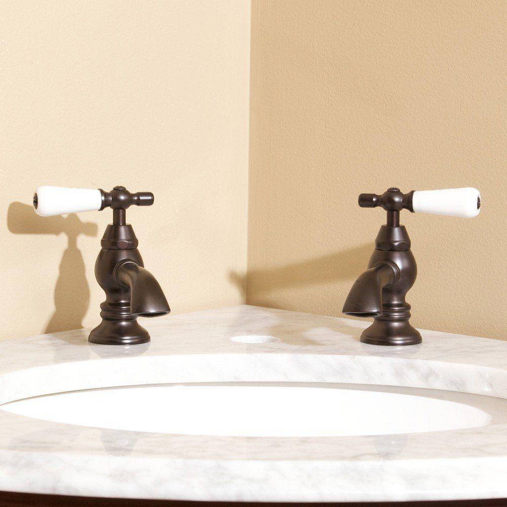 Single Basin Taps Porcelain Lever Handles Basin Taps Single