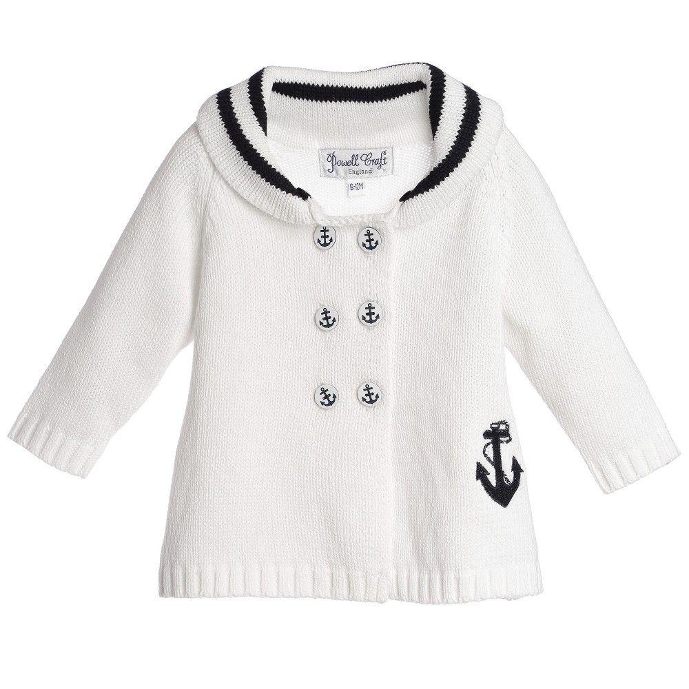 41f74efc4 White Cotton Knit Baby Pram Coat