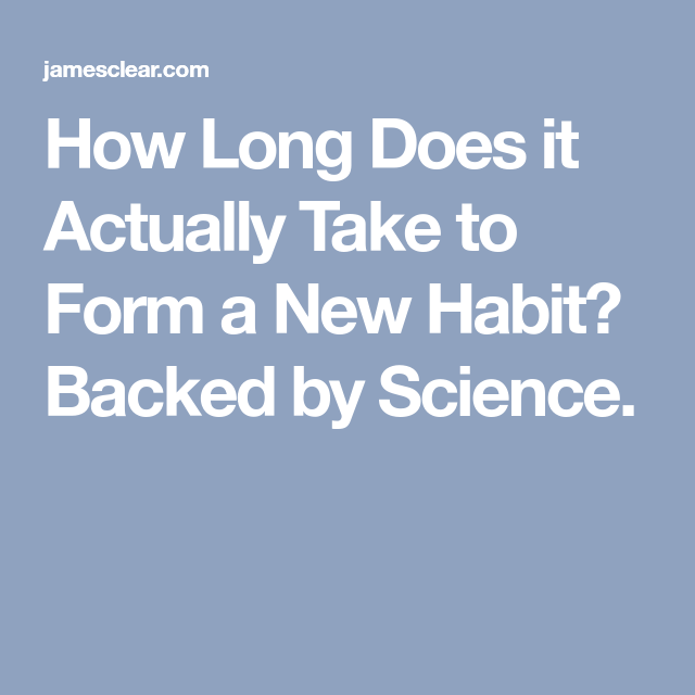 How Long Does It Actually Take To Form A New Habit? Backed