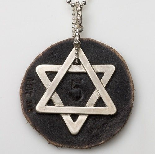 This Jewish necklace by Israeli Jewelry designer YOYO32 features a