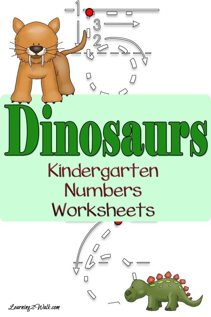 Dinosaur Kindergarten Numbers Worksheets | Number worksheets ...