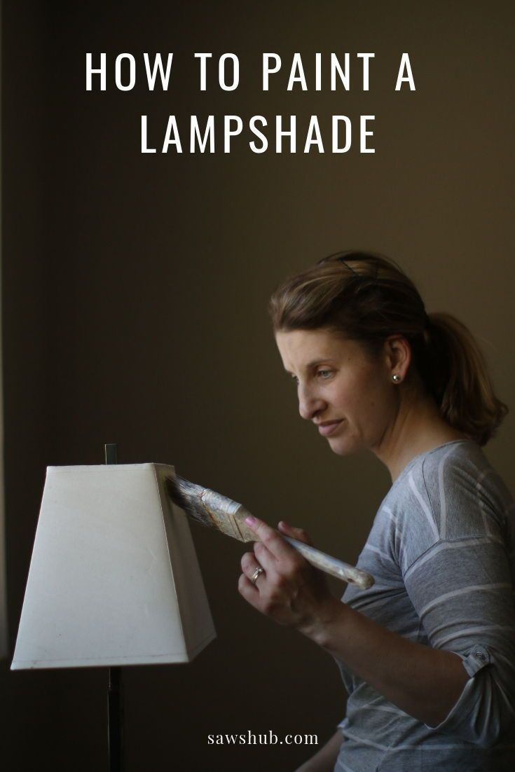 How To Paint A Lampshade With Chalk Paint In 2020