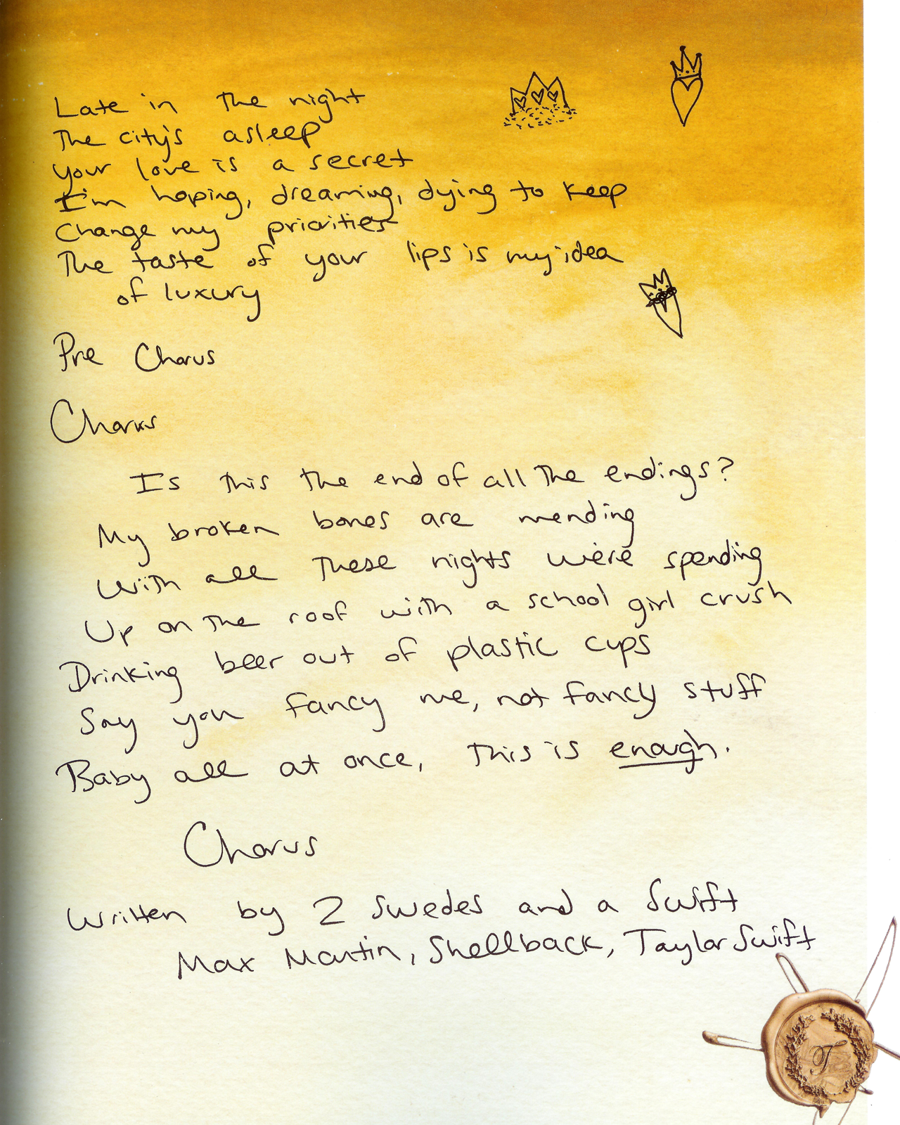 Tswiftly Handwritten Lyrics From Reputation Vol 2 Taylor Swift Lyrics Taylor Lyrics Taylor Swift Songs