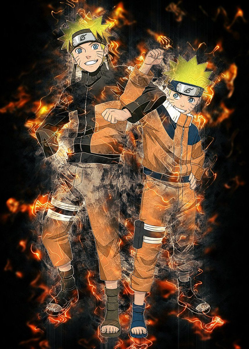 Pin on Naruto Wall Art Metal Poster