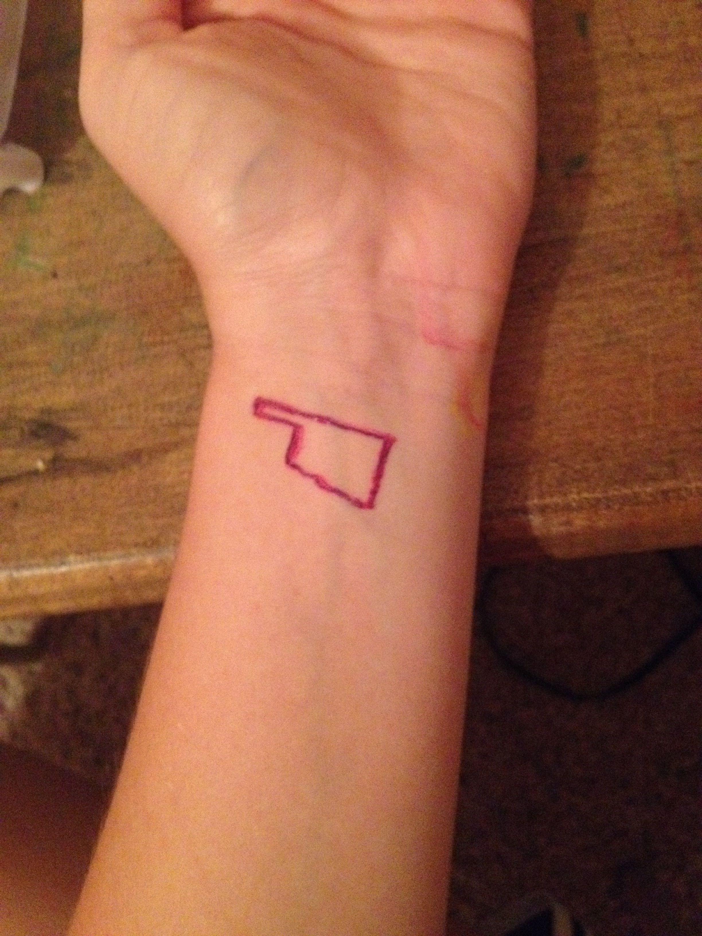 Oklahoma tattoo tattoo pinterest oklahoma tattoo for Oklahoma flag tattoo