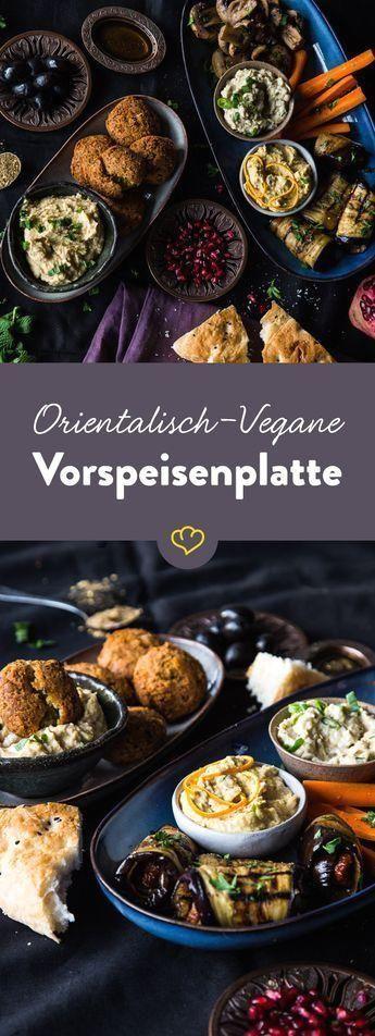 Mezze deluxe! Oriental-vegan appetizer plate        Mezze deluxe! Oriental-vegan appetizer plate,Mea...