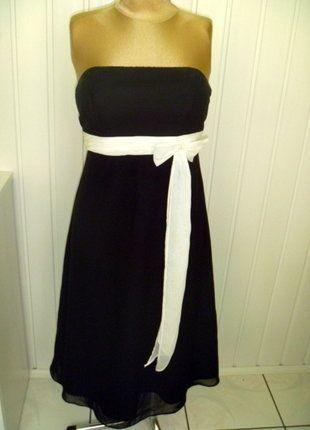 0f47a61f5b Czarna wieczorowa sukienka bez ramiączek