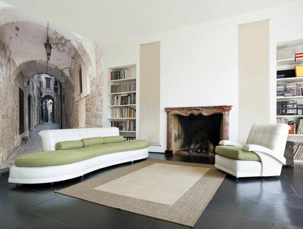 fototapete mit dem korridor Illusion murals, trompe Tapeten - fototapete für schlafzimmer