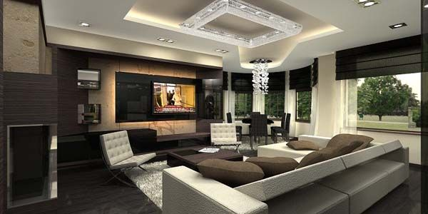 Fantastisch Modern Penthouse Apartment Living Room Design By Archikron Interior Design  Studio