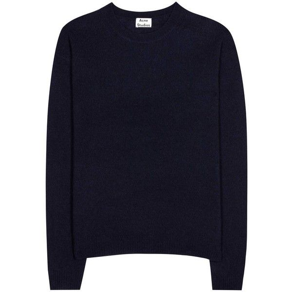 Acne Studios Wool Sweater (€295) ❤ liked on Polyvore featuring ...