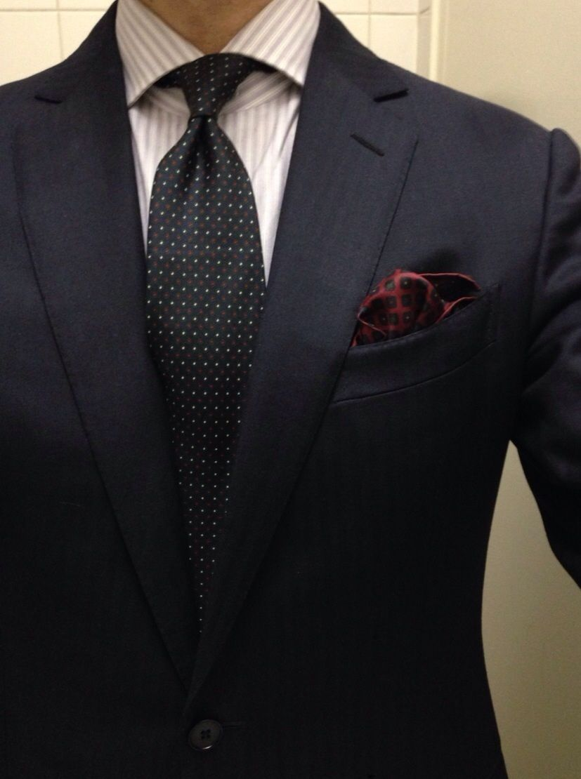 Rouge.   Zegna suit Finamore shirt  Sills hand printed in England tie  Vintage hand rolled pocket square Creed Neroli Sauvage