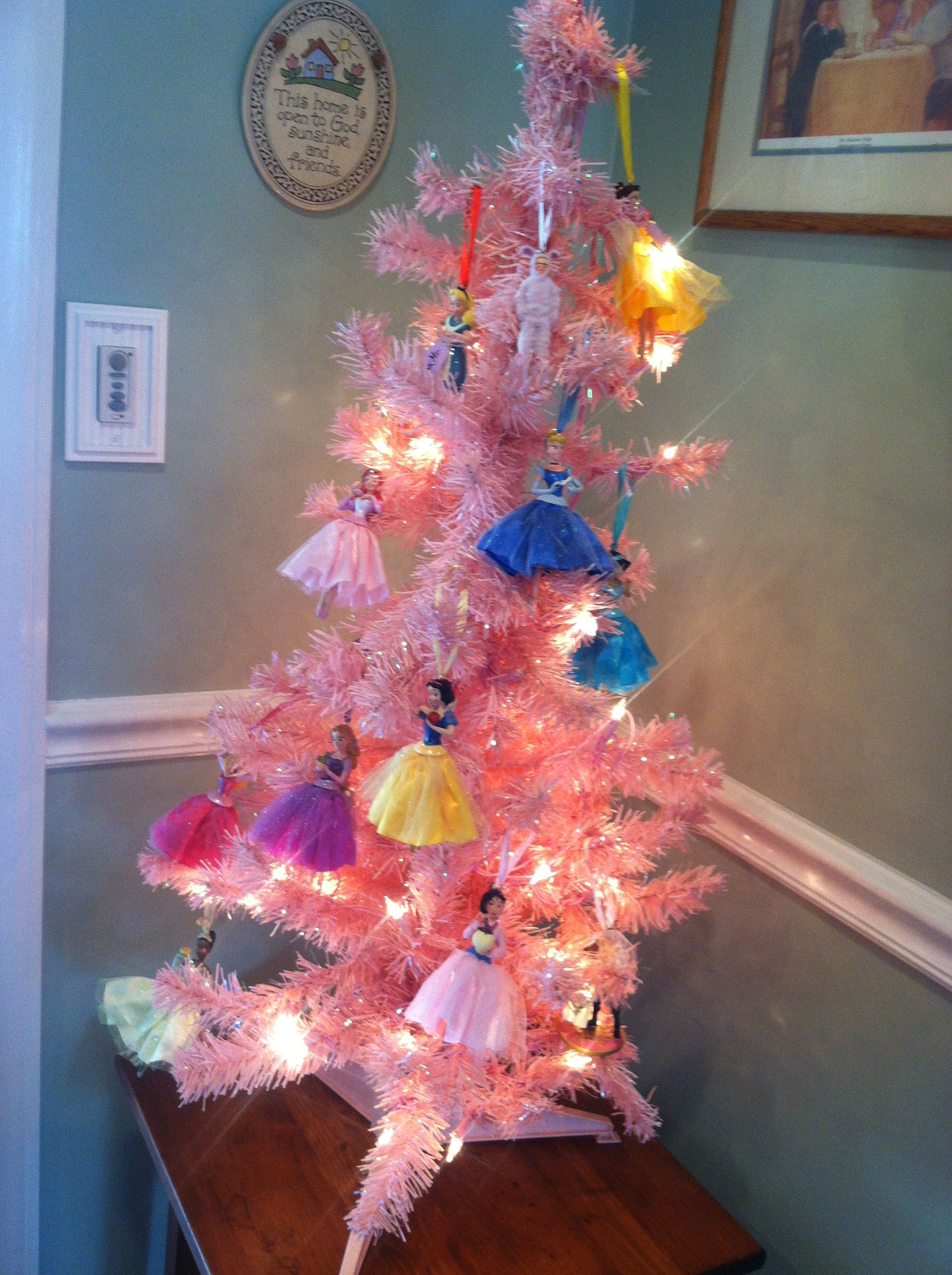 Disney princess Christmas tree :) also with Alice and Ralphie from A  Christmas Story because I had to :D