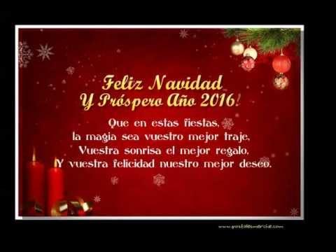 Video felicitaciones de navidad y mensaje feliz a o nuevo - Felicitaciones cortas de navidad y ano nuevo ...