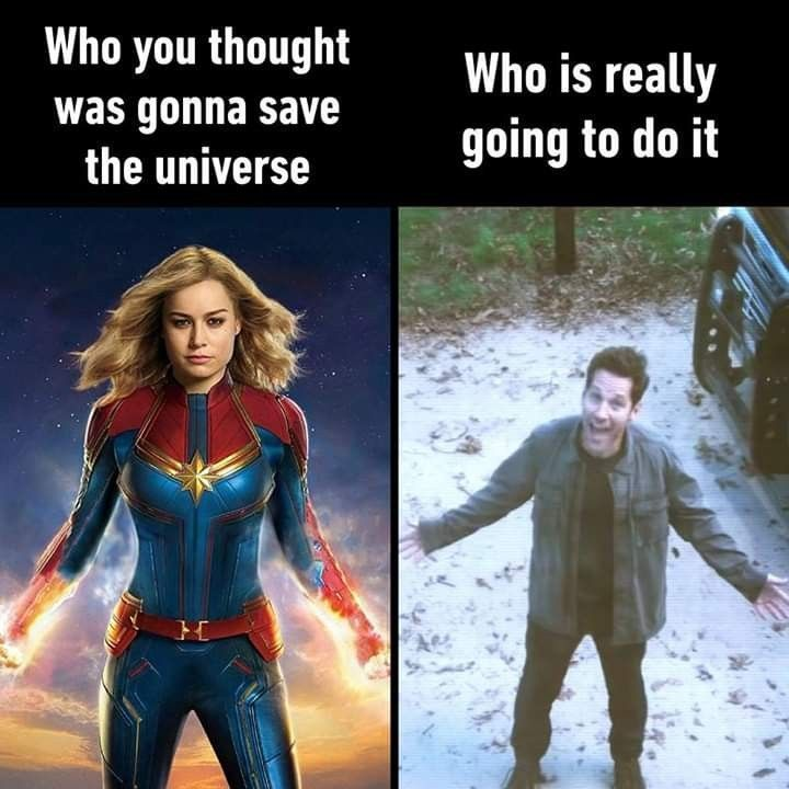 So true The fate of the universe really depends on Scott coming to the rescue   So true The fate of the universe really depends on Scott coming to the rescue