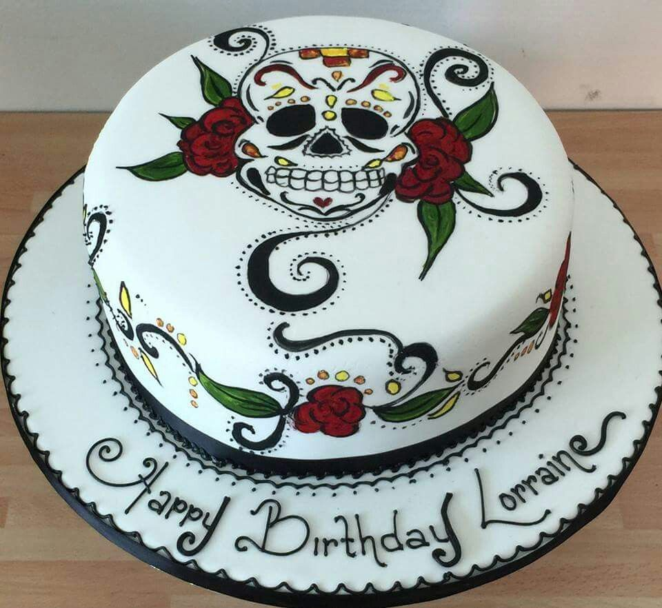 Cakes and Bakes in 2020 | Sugar skull cakes, Cake ...