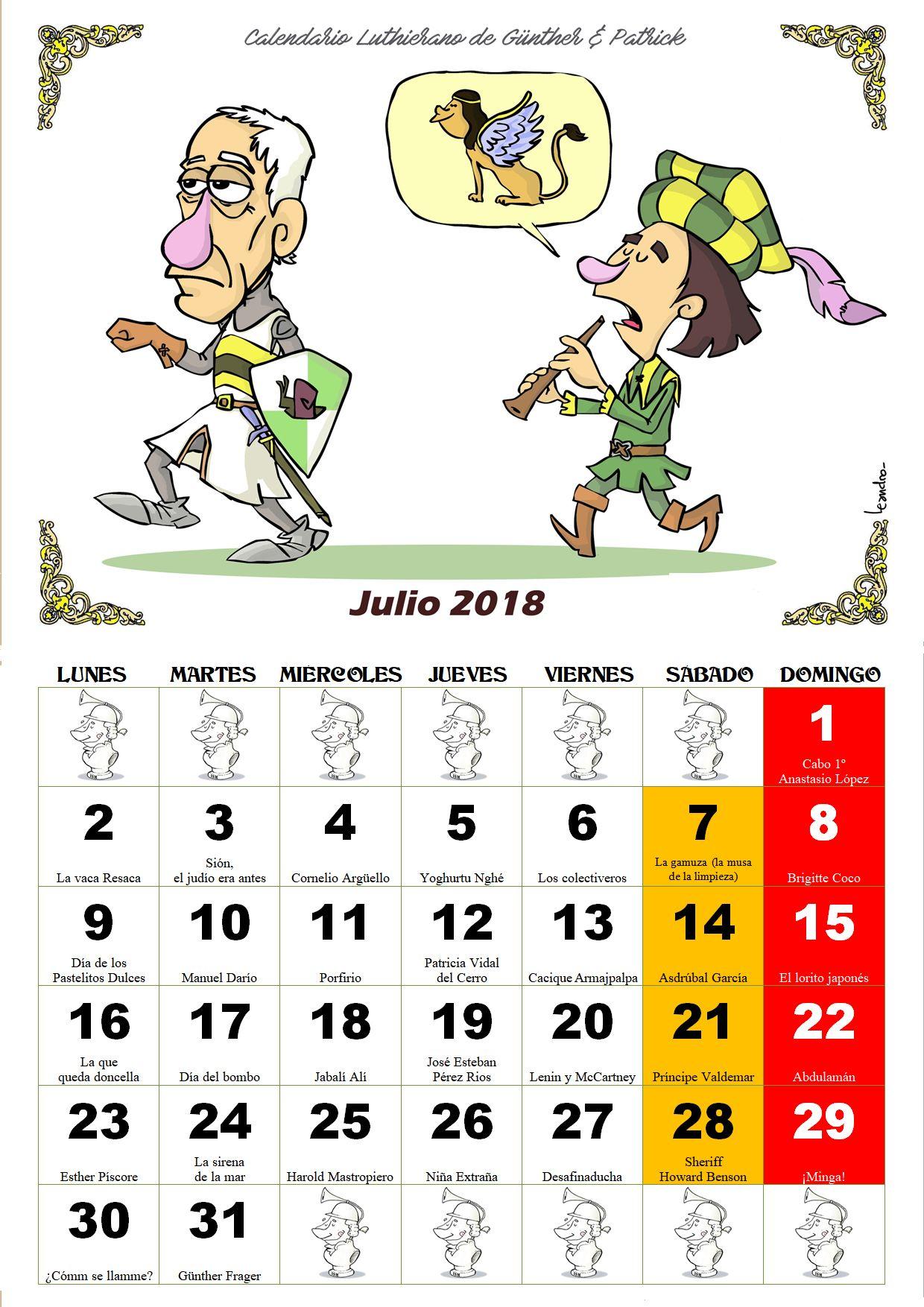 Julio - Calendario Les Luthiers 2018