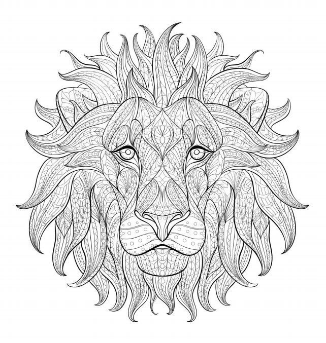 Relax With These 188 Free Printable Coloring Pages For Adults Loner Wolfs