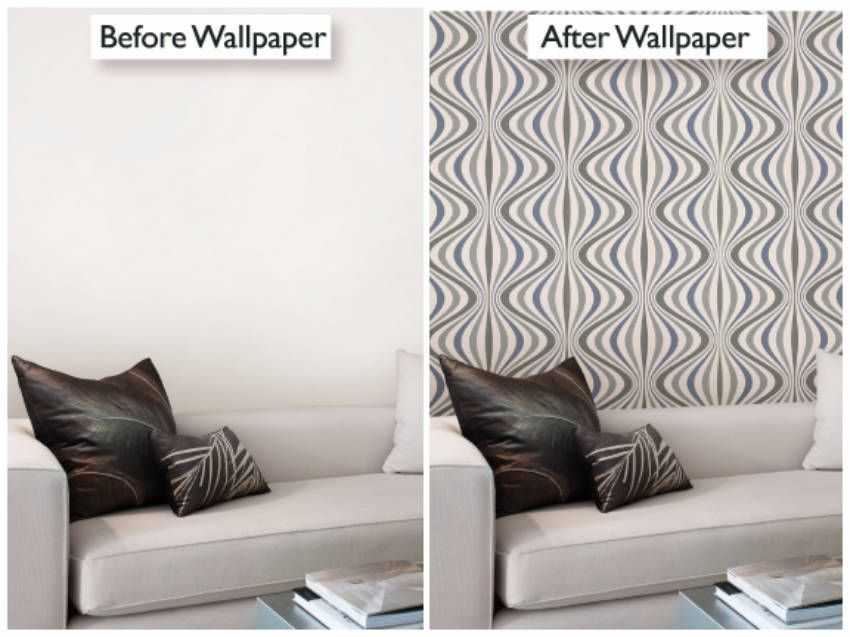 10 Mind Blowing Wall Makeovers On A Budget With Before And After Pictures How To Install Wallpaper Makeover Simple Wallpapers