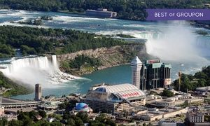 Groupon - Stay with Wine Package at Sheraton On The Falls in Niagara Falls, ON. Dates into April. in Niagara Falls, ON. Groupon deal price: $89