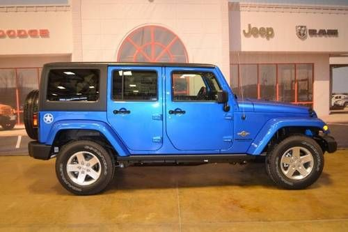2017 Jeep Wrangler Unlimited Sport Electric Blue Sharp Lift And Add Some Black