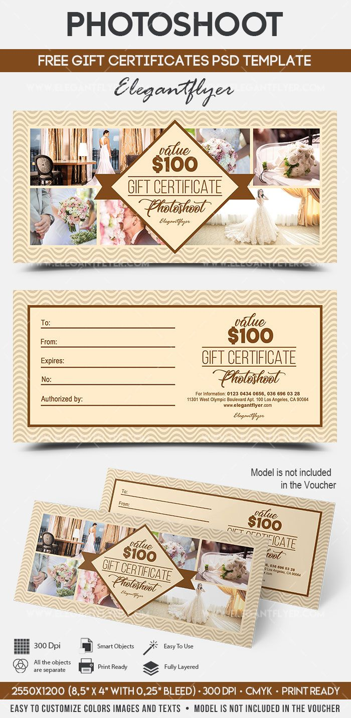 Photoshoot Free Gift Certificate Psd Template Free Gift