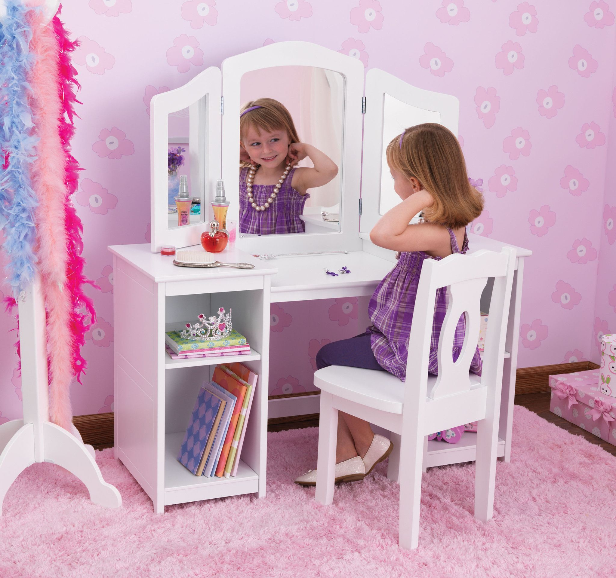 Every young girl needs her very own vanity Our Deluxe Vanity