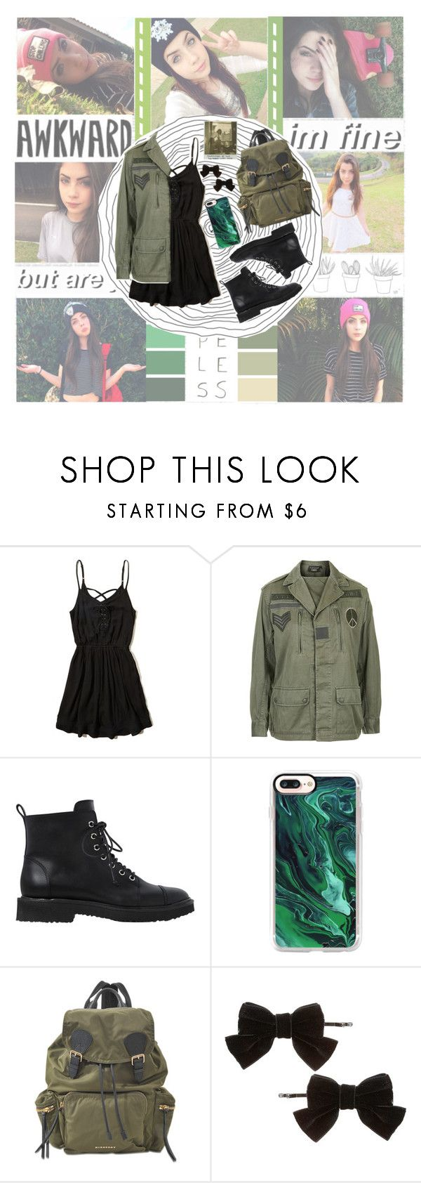 """340. 🌿 J A D E   P I C O N 🌿"" by choosemaknae ❤ liked on Polyvore featuring Kara, Hollister Co., Topshop, Giuseppe Zanotti, Casetify, Burberry and Dorothy Perkins"