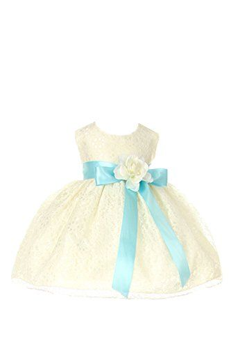 Cinderella Couture Baby Girls' Ivory Lace Flower Girl Dress Contrast Flower Sash AQUA/IV L Cinderella Couture http://www.amazon.com/dp/B016L4ANBE/ref=cm_sw_r_pi_dp_Jr9Gwb00SH43F