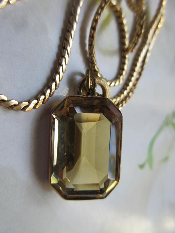 Antique 10k citrine pendant on gold fill chain large gemstone antique 10k citrine pendant on gold fill chain large aloadofball Choice Image