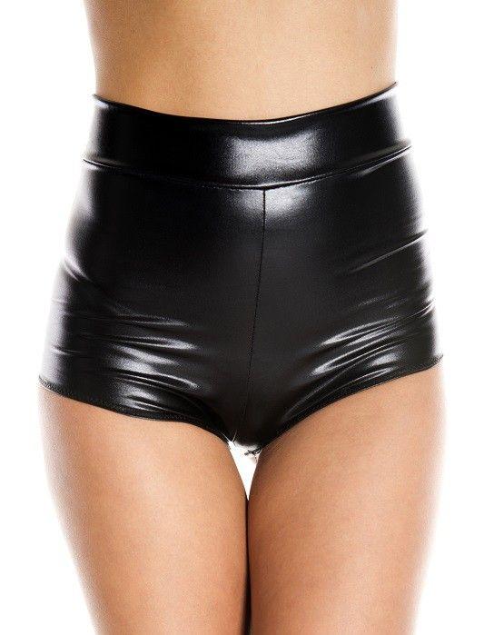 d56ffdab8 Music Legs - Lingerie Wet Look High Waist Booty Shorts - Buy Online  Australia Beserk