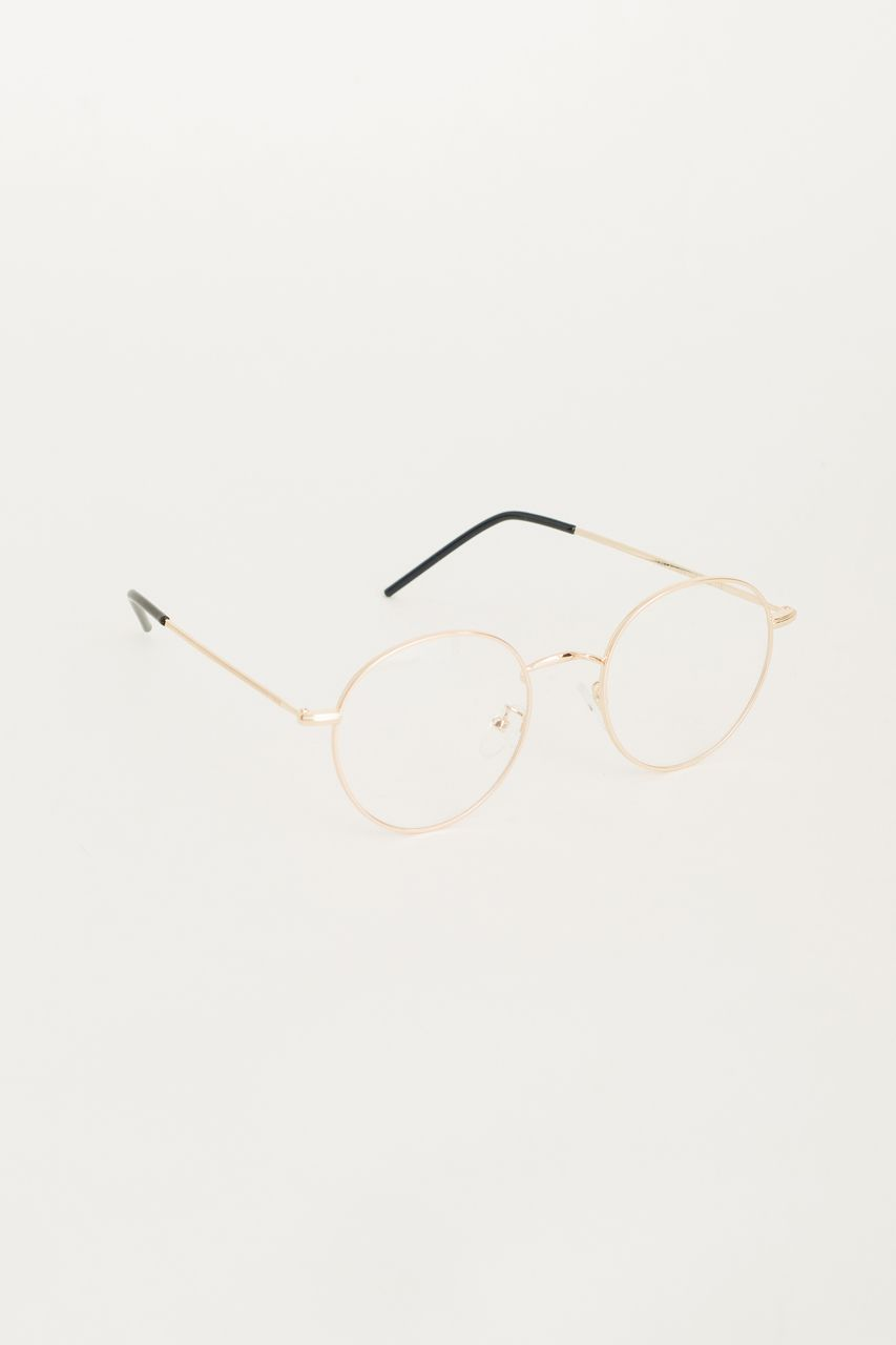 Thin Frame Gold Glasses, Gold | Glass, Gold and Eyewear
