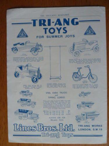 Vintage Lines Pedal Bros Original Magazine Carsamp; Triang Models MSUGVqzp