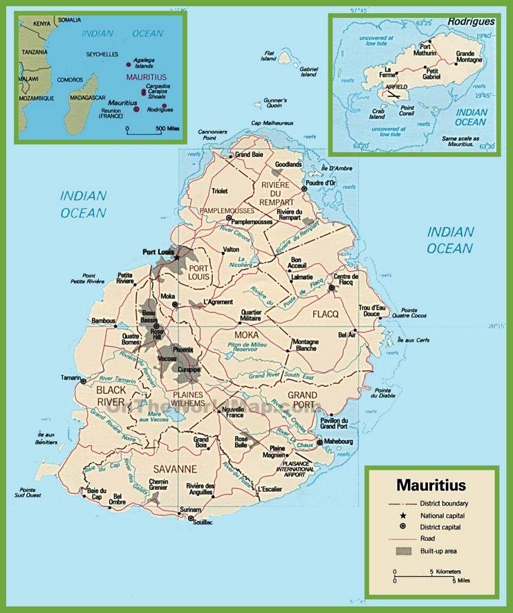 Carte Afrique, Île