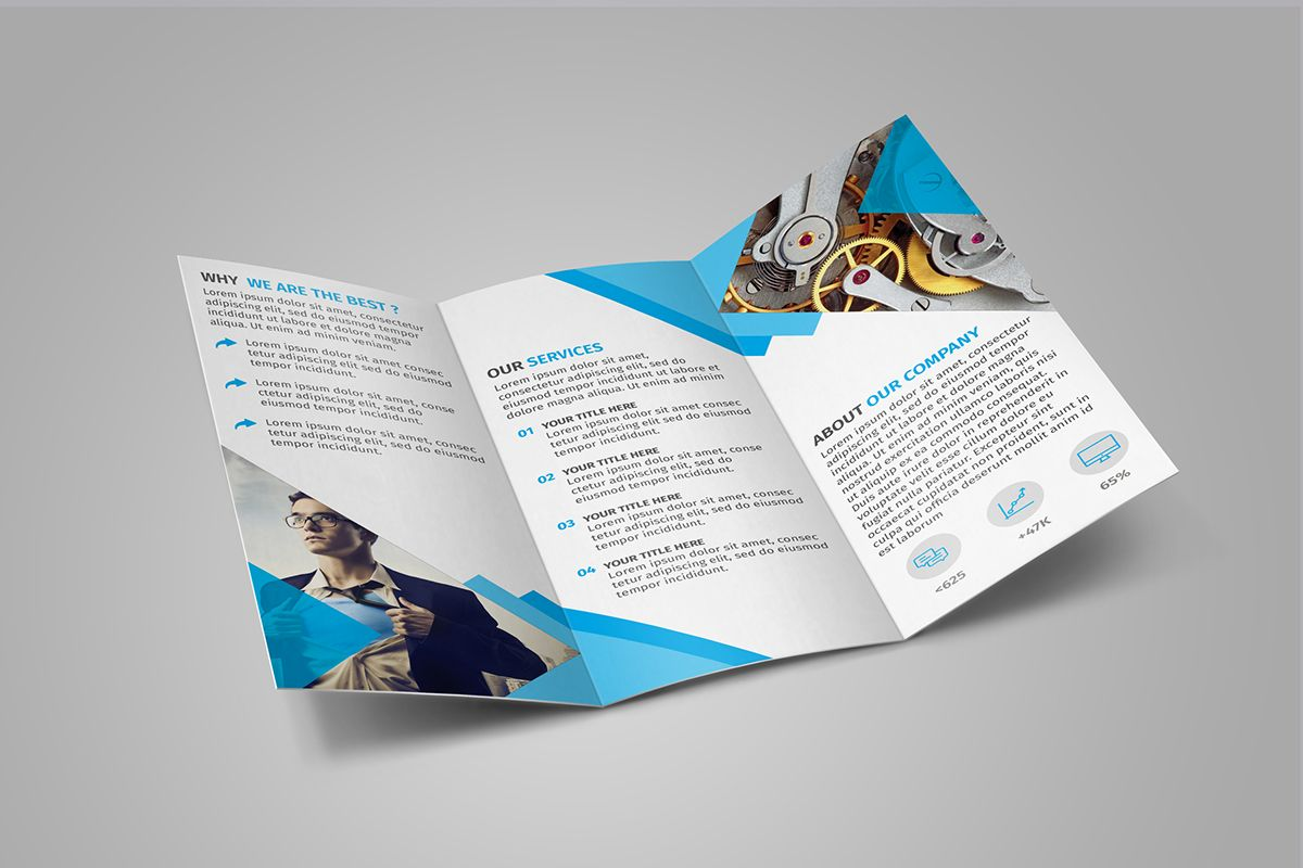 free tri fold brochure template download on behance gd print dl
