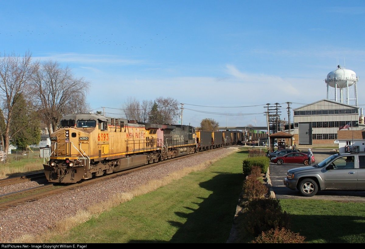 Cool Net Photo UP Union Pacific GE ACCW at Rochelle Illinois by