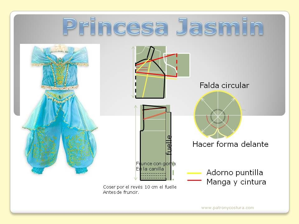 princesa Jasmin- patron | disfraces | Pinterest | Sewing, Doll ...