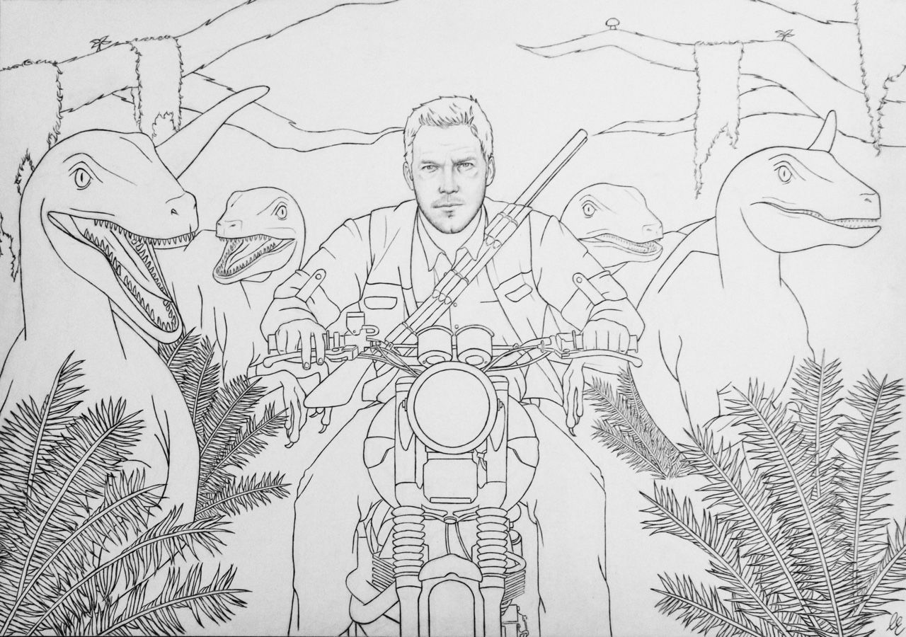 pic Jurassic World Coloring Pages Baby Blue dinosaur coloring pages
