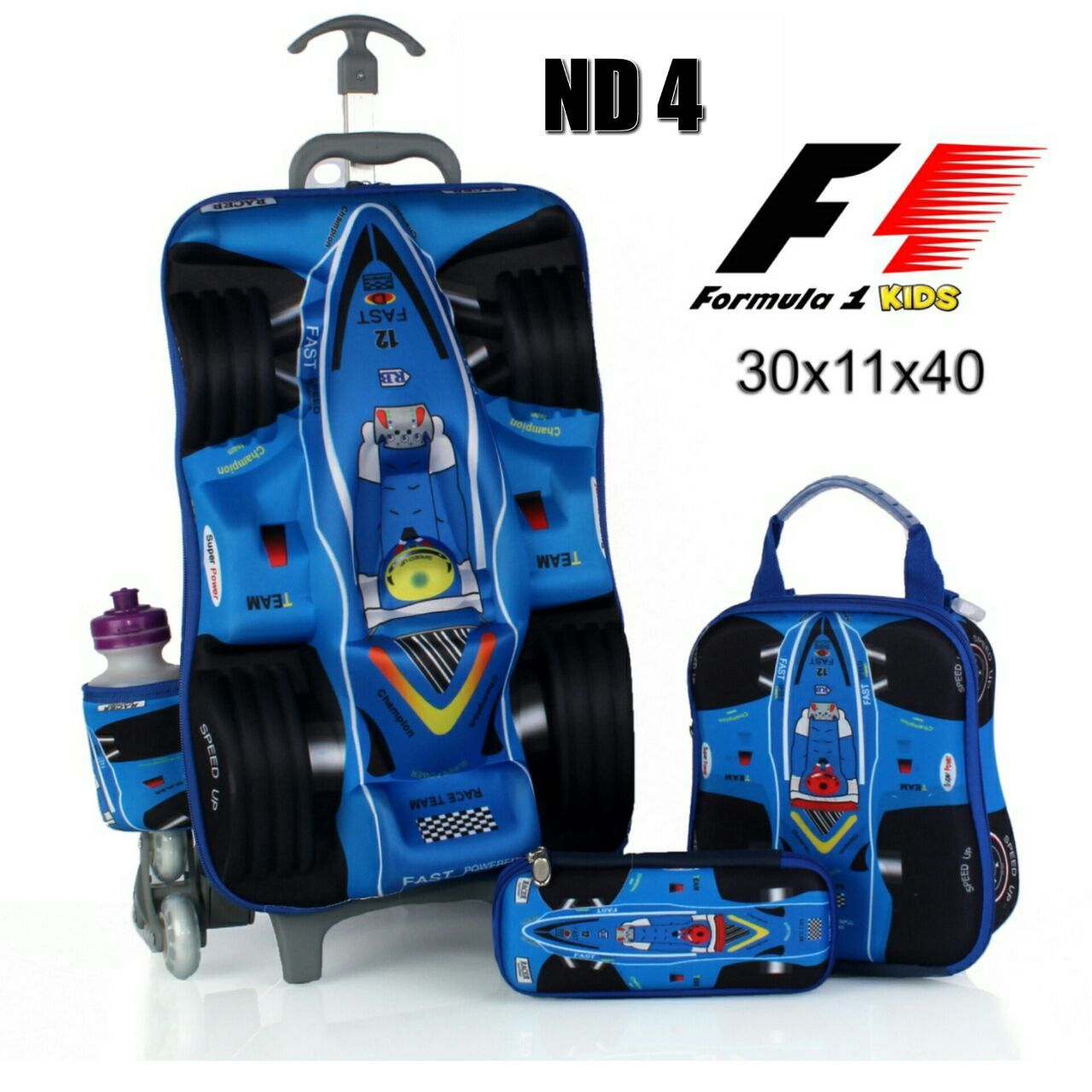 Tas Trolley Anak Cars F1 Biru Tas Trolley Anak Frozen Tas