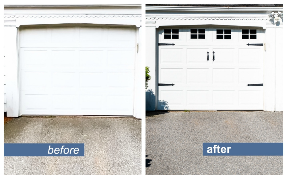 Cheap & Easy Garage Door Makeover in 2020 Garage door
