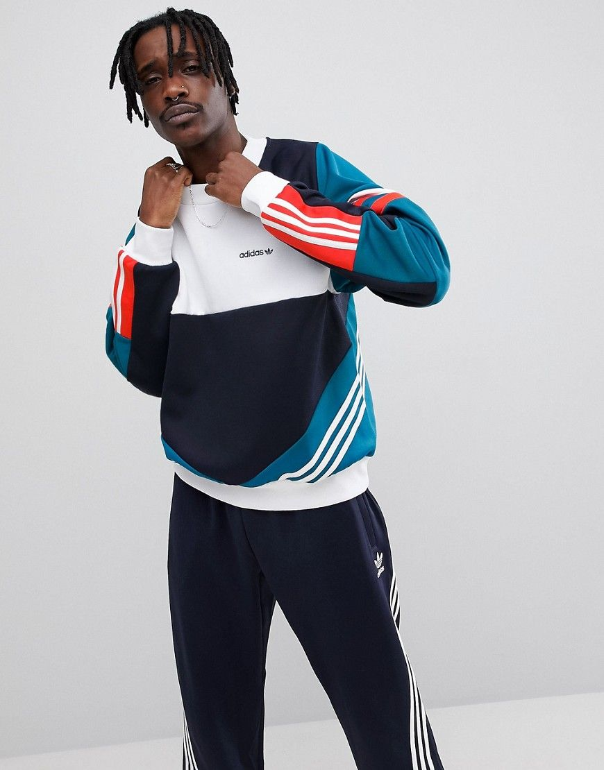 ADIDAS ORIGINALS NOVA RETRO SWEATSHIRT IN BLUE CE4851 - BLUE.   adidasoriginals  cloth   d207c3c1c73