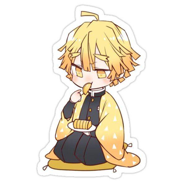Zenitsu Kimetsu No Yaiba Sticker By Francesco2m In 2020 Kawaii Stickers Cute Stickers Anime Stickers